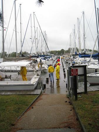 Jackson Creek dock at high tide
