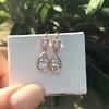 1.51ctw Diamond Mosaic OEC Dangle Earrings 22
