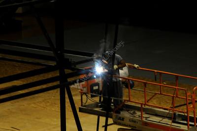 25481New scoreboard construction basketball coliseum