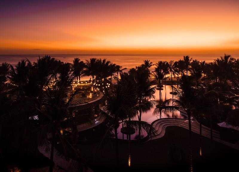Sunset at W Bali Seminyak Hotel