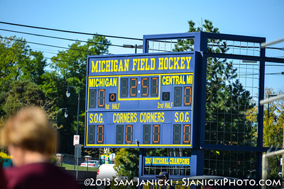 10-13-13 Michigan Field Hockey Vs Central Michigan