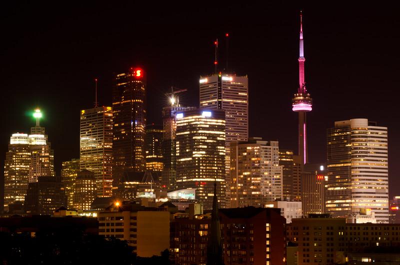 Toronto Skyline on a Summer Evening