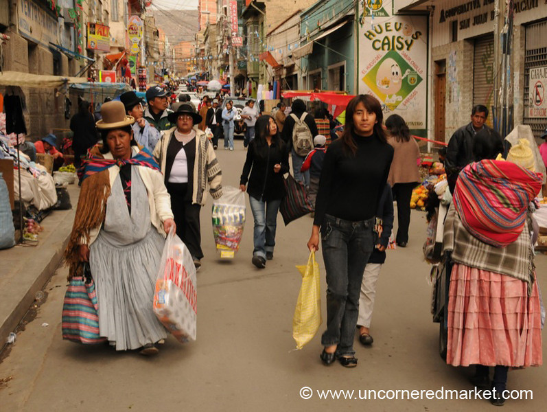 Street Markets - La Paz, Bolivia