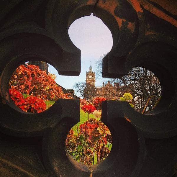 I spy the Balmoral Hotel and the Princes Street Gardens #Edinburgh #blogmanay