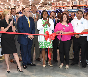 Mayor Warren and other officials celebrate the opening of Costco at CityGate. 6/5/2015