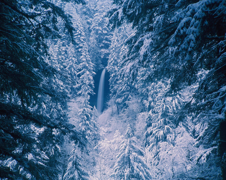 North Silver Falls cloaked in winter beauty