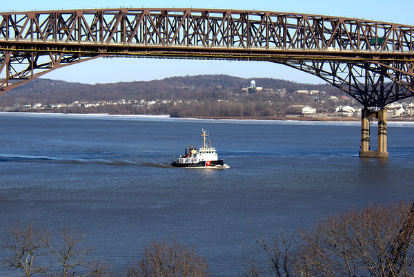 USCGC PENOBSCOT BAY is the seventh of nine ships in the U.S. Coast Guard's class of small icebreakers. In commission since January 4, 1985, PENOBSCOT BAY is one of two WTGB class cutters homeported at Bayonne Ocean Terminal. PENOBSCOT BAY's warm weather missions include law enforcement, search and rescue, aids to navigation, cadet training, and port, waterways, and coastal security (PWCS). During the winter months, PENOBSCOT BAY conducts icebreaking operations on the Hudson River to assist commercial ship and barge traffic as far north as Albany, New York.