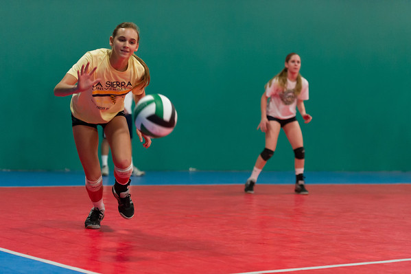 Kiana volleyball practice