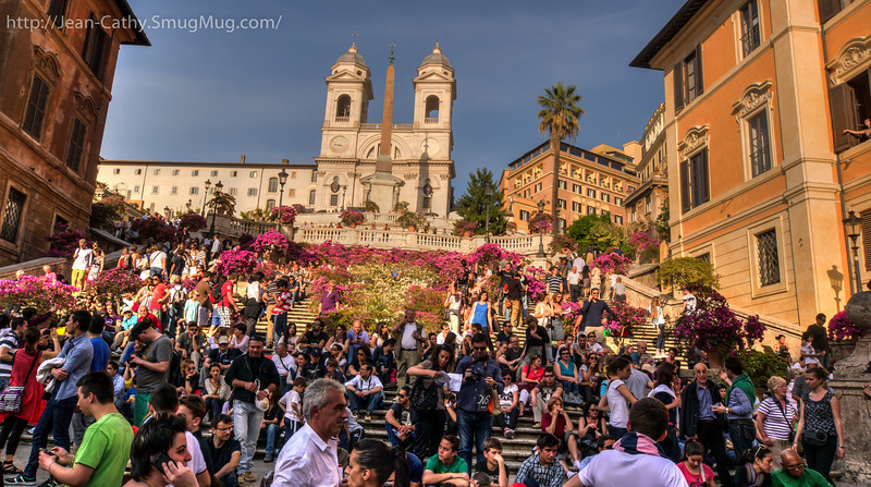 Spanish Steps in Rome .. Subtle HDR treatment.