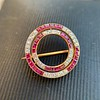 2.90ctw French Ruby and Diamond Brooch, by La Cloche Fres of Paris 10