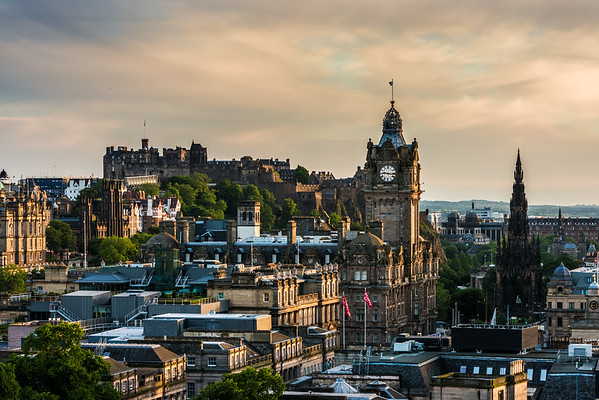 Evening Sun over the Balmoral and the Castle