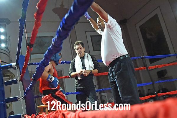 Bout 8 Adam Kozelka(Red Gloves), Empire/Chagrin Valley, Aurora -vs- Ricardo Roman(Blue Gloves), Rob Berto's BC, Cleveland, 152 lbs, Sub-Novice