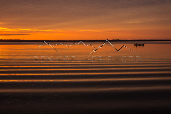 Sunrise on Carp Lake, northern Michigan