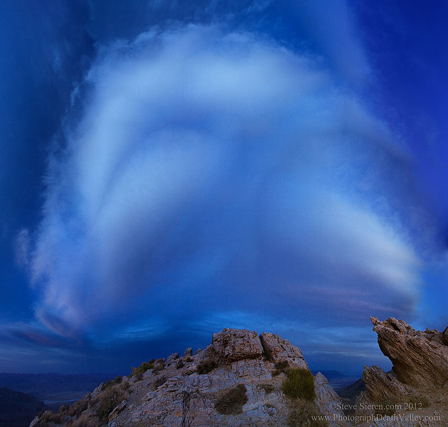 Large cloud over Death Valley National Park.