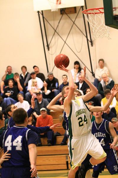 St Maries varsity boys basketball vs bonners ferry 1-22-2011