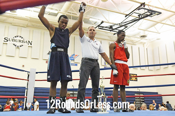 Bout #4:   Isaiah Bady, Blue Gloves   vs   Josiah Gladden, Red Gloves  -  132 Lbs.