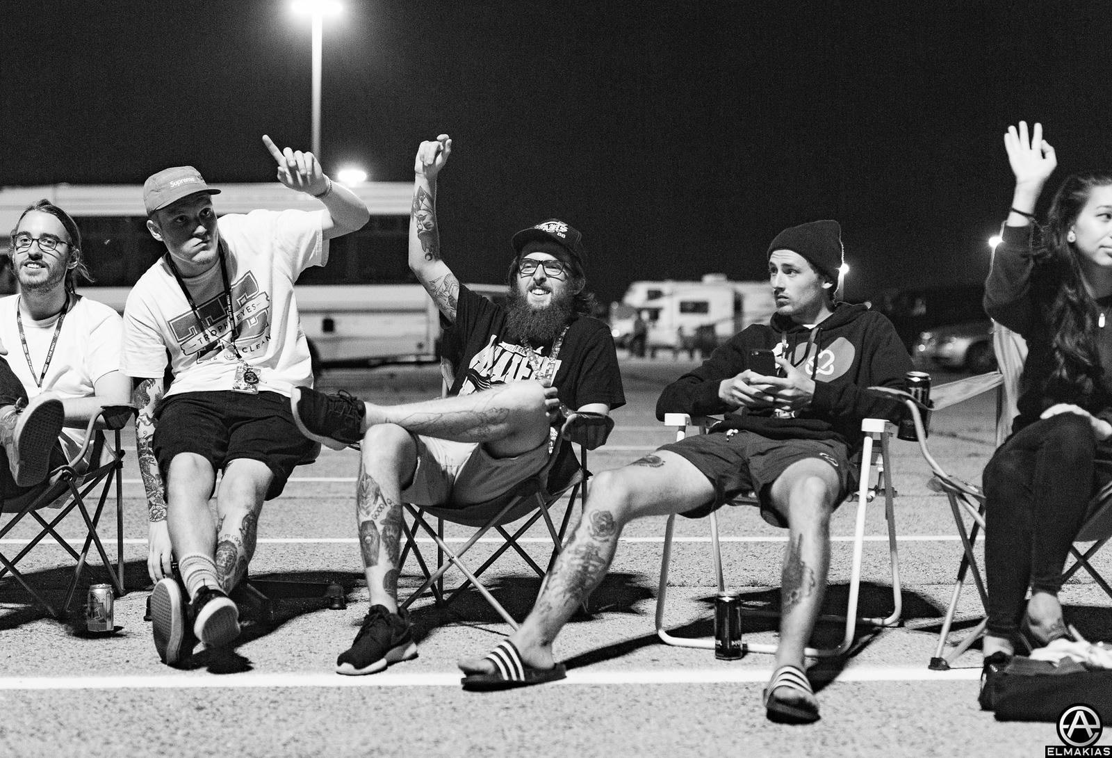 Neck Deep hangs at Vans Warped Tour 2015 by Adam Elmakias