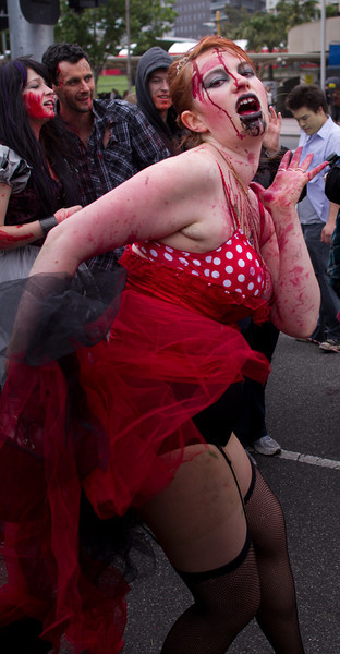 Zombie dancing at the end of the walk