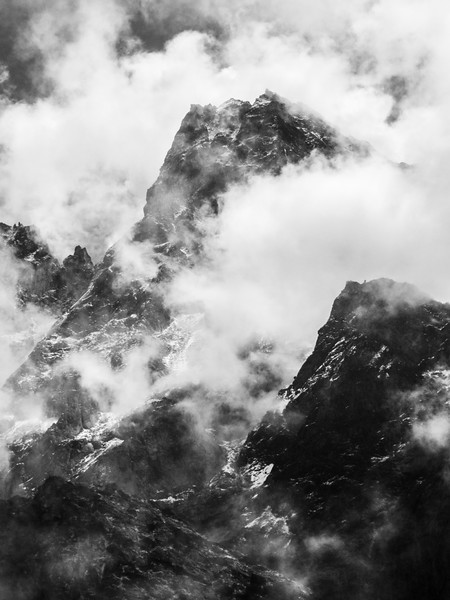 Clearing storm in the Himalayas, Nepal