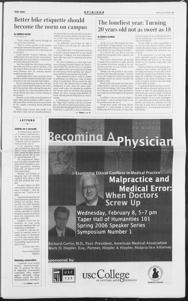 Daily Trojan, Vol. 157, No. 20, February 08, 2006