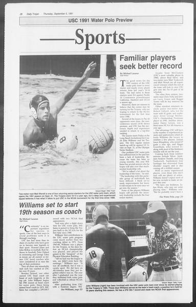 Daily Trojan, Vol. 116, No. 3, September 05, 1991