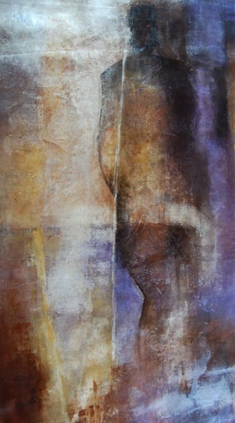 Abstracted Figure-Dominick, AEPG, 69x39 canvas
