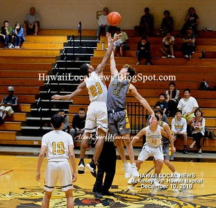 "McKinley Varsity Boys Basketball ""vs"" Hawaii Baptist 12/10/2018"
