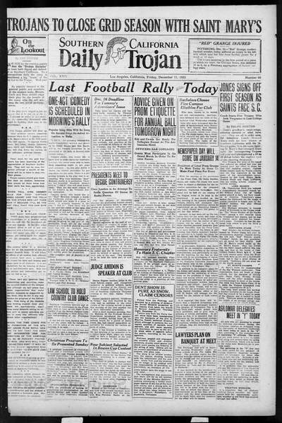 Daily Trojan, Vol. 17, No. 60, December 11, 1925