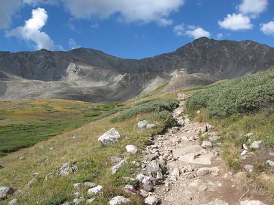 Grays Peak (14270') and Torreys Peak (14267'), Colorado 9/1/07