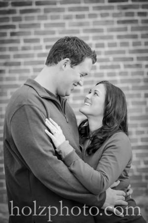 Sierra & Jared B/W Engagement Photos