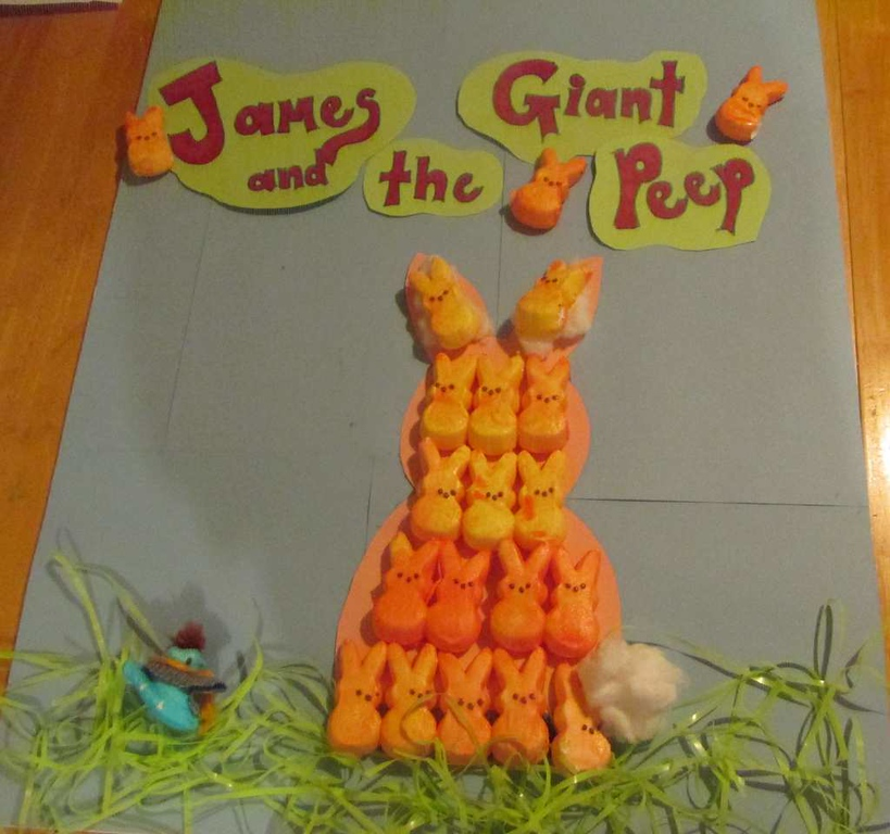 """. \""""James and the Giant Peep,\"""" by Rebecca McClure"""