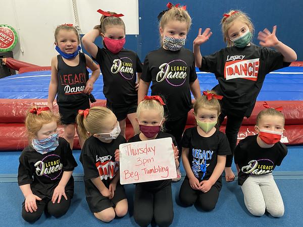 Thursday 3pm Preschool/Kinder Beginning Tumbling