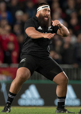 Haka by All Blacks during game 7 of the British and Irish Lions 2017 Tour of New Zealand, the first Test match between  The All Blacks and British and Irish Lions, Eden Park, Auckland, Saturday 24th June 2017 (Photo by Kevin Booth Steve Haag Sports)  Images for social media must have consent from Steve Haag