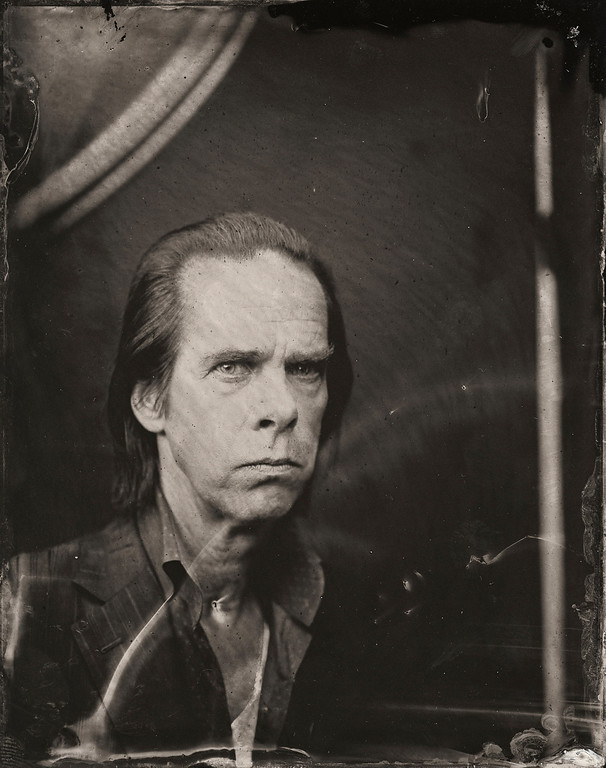 . Nick Cave poses for a tintype (wet collodion) portrait at The Collective and Gibson Lounge Powered by CEG, during the 2014 Sundance Film Festival in Park City, Utah. (Photo by Victoria Will/Invision/AP)