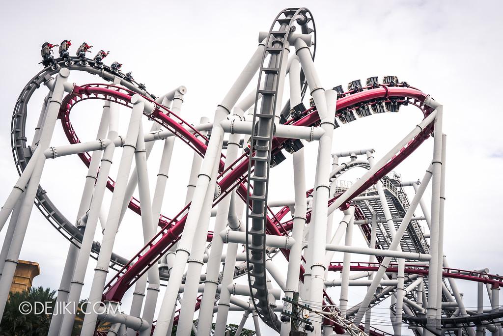 Universal Studios Singapore Park Update June 2017 - Battlestar Galactica dueling roller coasters 2017