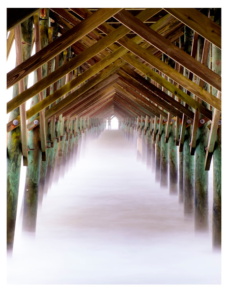 Mist in the Morning Pier North Carolina