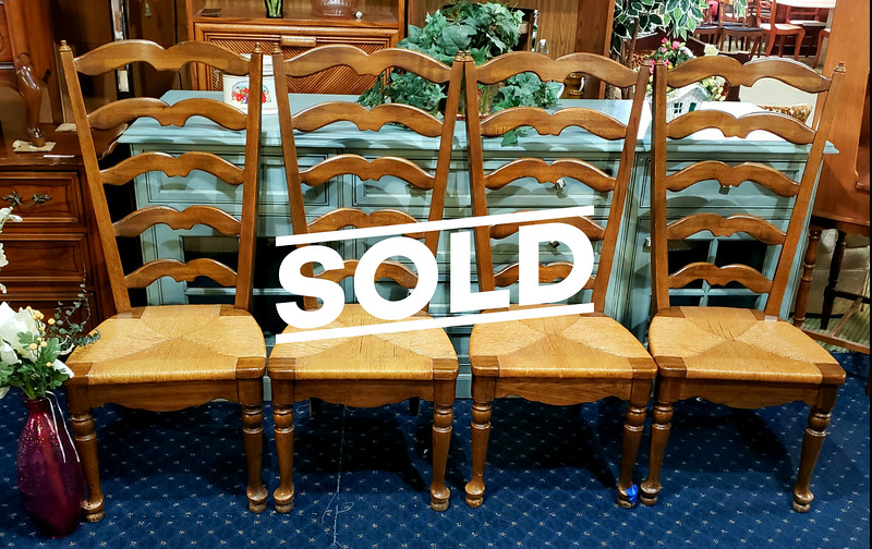 Hard Rock Maple Ladder Back Chairs