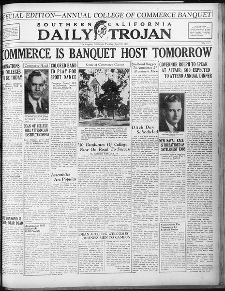 Daily Trojan, Vol. 22, No. 131, April 28, 1931