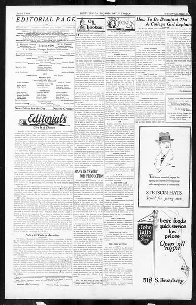 Daily Trojan, Vol. 16, No. 70, March 17, 1925