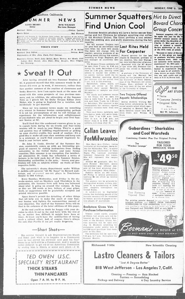 Summer News, Vol. 3, No. 1, June 21, 1948
