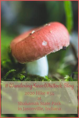 "2020 Hike #34 on August 7th at Shakamak State Park in Jasonville Indiana ""Shrooms @ Shak"""