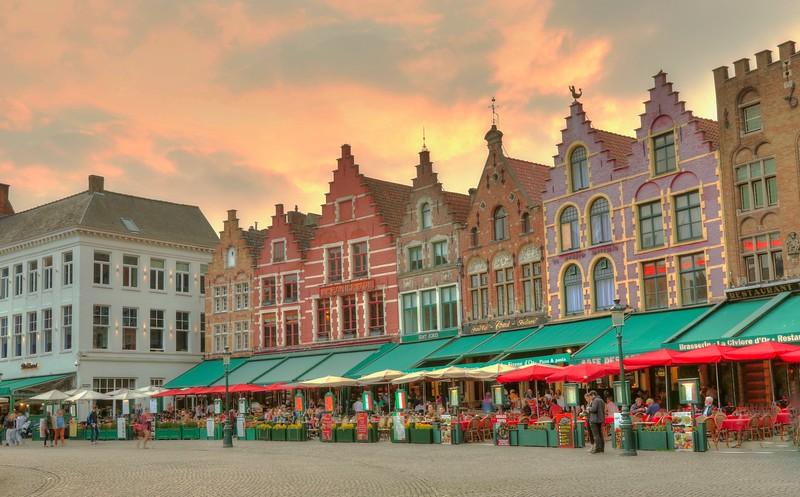 Bruges sunset
