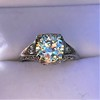 1.88ctw Platinum Filigree Solitaire Ring by C.D. Peacock, GIA S-T, VS 37