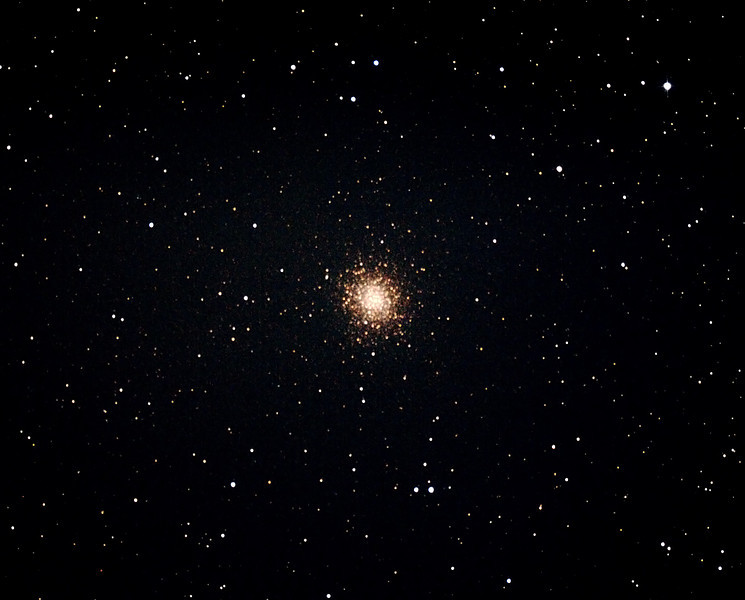 Messier M14 - NGC6402 - Globular Cluster in Ophiuchus - 12/07/2013 (Processed cropped stack)