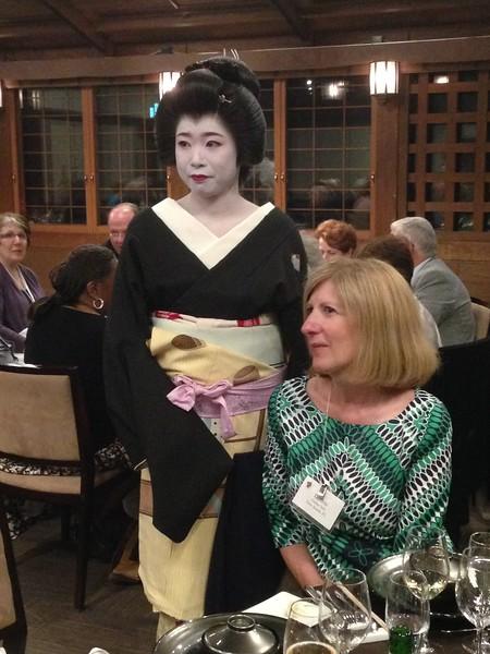 Debbie Garber and geisha - Leslie Rowley S95