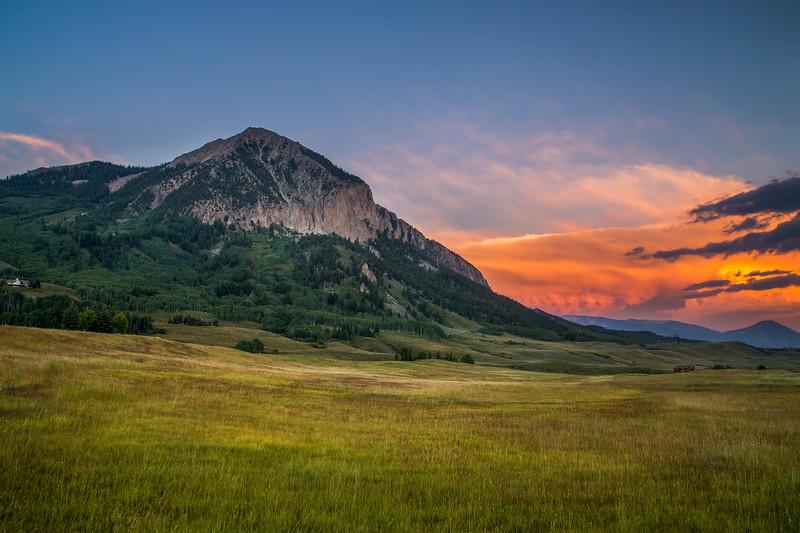 Mount Crested Butte Summer Sunset