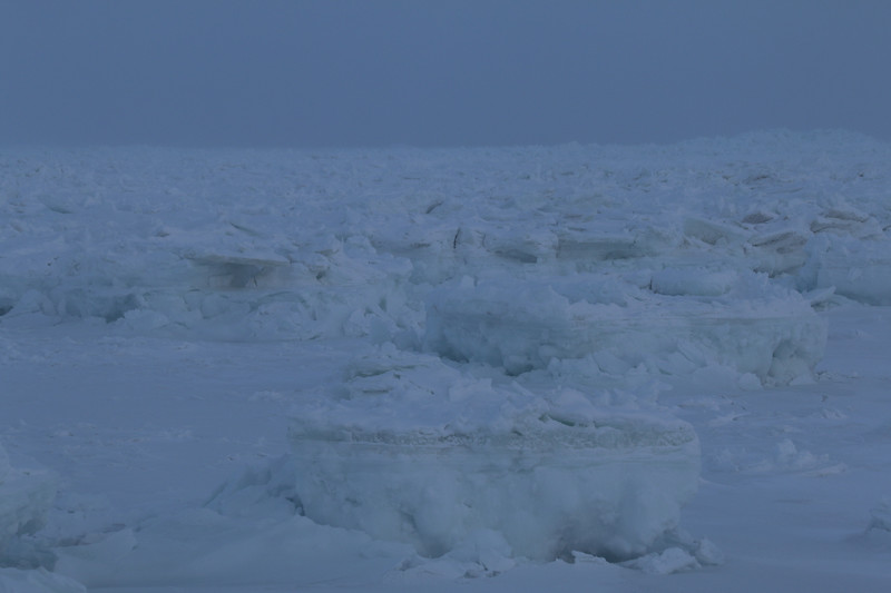Ice on Hudson Bay from the helicopter