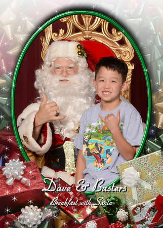 Dave & Busters Breakfast with Santa
