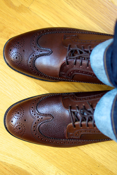 Mark McNairy for Engineered Garments (Long Wing Leather Brogue)