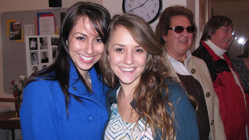 Ashley (Clark) Rodriguez and Molly Giombi. Janet Clark and Patty (Clark) Bichler